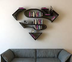 Creative Shelf Superman 3d Book Shelf Idea 3 Creative 3d Bookshelf Ideas