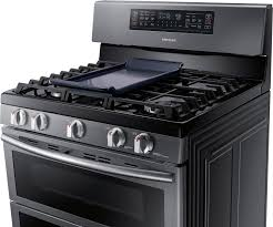 gas cooktop with grill. Ft. Gas Flex Duo Self-Cleaning Freestanding Smart Range With Convection Black NX58K7850SG - Best Buy Cooktop Grill