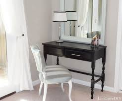 furniture small black vanity desk with white chair and large mirror mirrored desk vanity