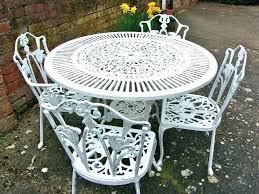 painting cast aluminum painting cast aluminum patio furniture awesome vintage shabby chic white iron garden set