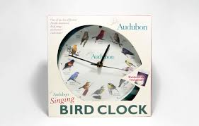 the audubon singing bird clocks have authentic recordings of 12 favorite north american birds that announce each hour manufactured by mark feldstein