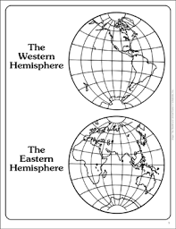 Western Hemisphere Maps Printable Western And Eastern Hemispheres Outline Map Printable Maps And