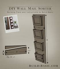 Build a DIY Wall Mail Sorter - Building Plans by @BuildBasic www.build-