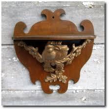 antique wood shelf sconce birds flower garland gold gilt cast metal