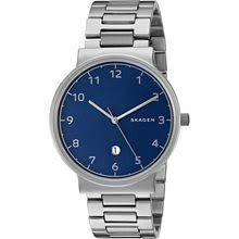 skagen watches mens luxury watches mens designer watches skagen ancher blue dial men s watch