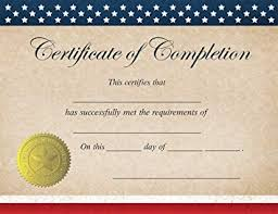 Completion Certificates Great Papers Patriotic Completion Certificate 25 Count