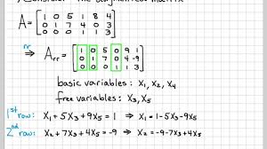linear algebra example problems general solution of augmented matrix