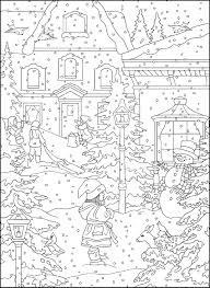 Christmas Chimney And Stocking Coloring Page