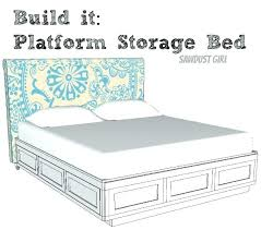 king storage bed frame with drawers king platform bed frame plans useful double king size bed