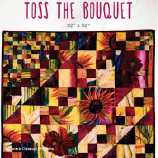 Frond Design Studio Fabric For Sale Toss The Bouquet In Love Blossoms Pattern Quilts Big Easy