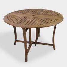 round wood outdoor table. Interesting Wood Round Wood Danner Folding Outdoor Dining Table To