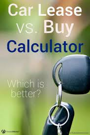 car leases calculator lease vs buy car calculator