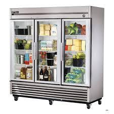 three door reach in display freezer 24