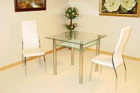 jazo clear and black glass dining table and 2 dining chairs