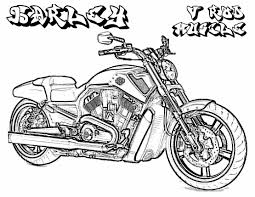 Challenge printable harley davidson coloring pages to download and print for free