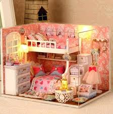 kids dollhouse furniture. Miniature Dollhouse Furniture Wooden Toy Kids Creative Puzzle Model Gifts . U