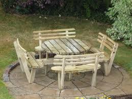 stylish round plastic picnic table round plastic picnic table inside round picnic table with attached benches