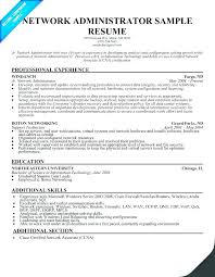 Network Administrator Resume Samples Amazing Network Administrator Resume Template Network Administrator Resume