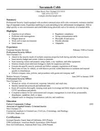 20 Security Guard Resume Sample : Security Guard Resume Sample No Experience