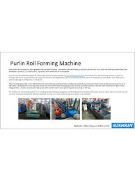 Roll Forming Machine Design Pdf Purlin Roll Forming Machine Pdf Archive