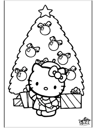 Christmas Hello Kitty Coloring Pages Christmas