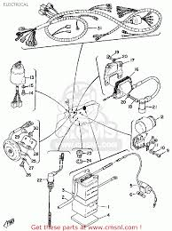 Yamaha rs100 1975 usa electrical schematic partsfiche unusual yamaha blaster wiring schematic images electrical