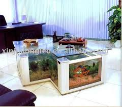 office aquarium. acrylic coffe table aquarium in office view
