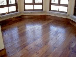 Custom Wide Plank Hand Hewn Hickory Pecan Hardwood Flooring w/ Pegs