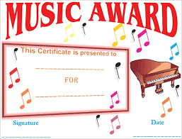 Piano Certificate Template 7 Printable Music Certificate Templates Free Word Pdf Documents