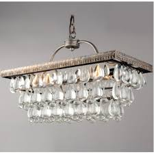 gallery of celeste flush mount glass drop crystal chandelier chrome interesting 5