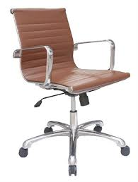 joplin series european styled brown leather office chair with polished frame by woodstock brown leather office chairs