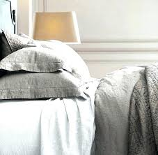in fog or graphite stonewashed linen bedding collection flax bassinet belgian quilt eyelet baby scroll to