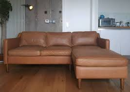 west elm hamilton 2 piece leather chaise sectional sofa tan sienna leather