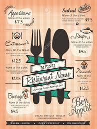 Restaurant Menus Layout Restaurant Menu Design Template Layout