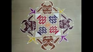 Pongal kolam 2020 with dots, significance, easy, rangoli designs, mattu pongal kolam, poduvathu eppadi, pulli vacha pongal kolam. Mattu Pongal Kolam With Dots 18 6 6 Pongal Rangoli With Colours Special Rangoli For Mattu Pongal Youtube