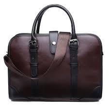 meigar 14 17 brown pu leather laptop messenger bag for men women business briefcase shoulder handbag office work tote attache case com