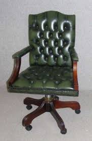 green leather office chair. 1960s Green Leather Office Chair Georgian Style Size 20 W I