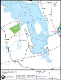 Wordens Pond Depth Chart Pachaug Pond Map Northeastbass