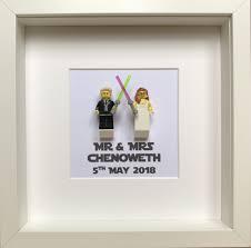 lego star wars wedding gift mr mrs frame