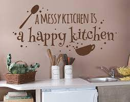 happy kitchen wall decal quotes and