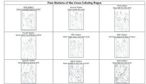 Cross Coloring Pages Free Stations Of The Jesus On For Adults