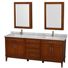 Medicine Cabinet With Light Wyndham Collection Hatton 80 In Vanity In Light Chestnut With