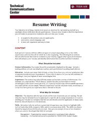 Resume Writing Objective Oneswordnet