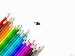 Ppt Background School Colored Pencils Powerpoint Background For School Lectures