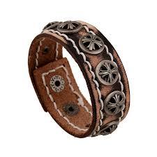 mens fashion braid wide bracelets vintage punk leather bangle cowboy cuff wristband surf hiphop jewelry biker bracelet