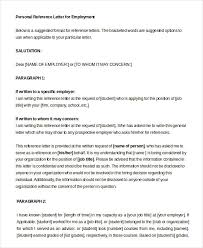 Personal Reference Letter - 10+ Free Word, Pdf Documents Download ...