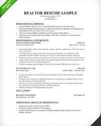 Sample Real Estate Agent Resume Download Real Estate Broker Resume