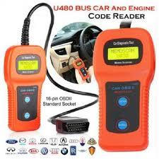 Car diagnostic scanner tool <b>u480</b> OBD2 <b>can bus &</b> engine code reader