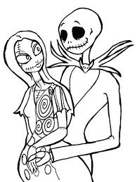 Nightmare Before Christmas Coloring Pages Download