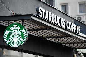 starbucks store sign. Contemporary Sign A Starbucks Coffee Shop Is Seen Warsaw Poland On April 2 2018 With Store Sign E